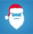 santa claus hat and beard new year design vector image