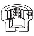 screw die section vintage vector image vector image
