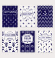 sea and nautical banners templates vector image