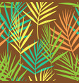 seamless floral pattern of tropical leaves on vector image vector image