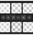 set of patterns EPS8 Linear geometric vector image vector image