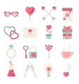 Set of Valentines day icons elements collection vector image vector image