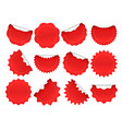 starburst sticker shopping star burst button red vector image