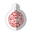sticker christmas wreath of glass with star vector image vector image
