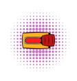 Toggle switch in No position icon comics style vector image