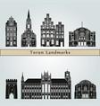 torun landmarks vector image vector image