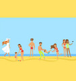 tourists on summer vacation set happy people vector image vector image
