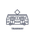 tramway line icon concept tramway linear vector image vector image