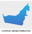 united arab emirates map in asia continent design vector image