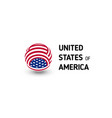 united states of america unusual abstract vector image vector image