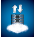Web hosting icon Data center design vector image vector image