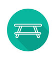 wooden table flat linear long shadow icon vector image vector image