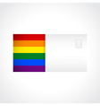 Envelope with rainbow flag card vector image