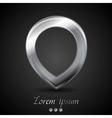 Metallic mark label logo design vector image