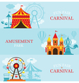 Amusement Park Carnival Fun Fair Banner vector image