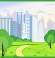 green park landscape on big vector image