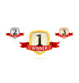 1 2 3 winner place isolated badges set vector image vector image