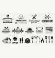 9 vintage logo templates and 19 design elements vector image vector image