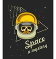 astronaut helmet with a dead man vector image