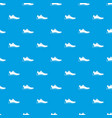 athletic shoe pattern seamless blue vector image vector image