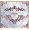 baroque paper card background rich imperial vector image vector image