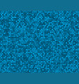 blue random background from circles mosaic tiles vector image
