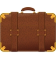 brown suitcase vector image