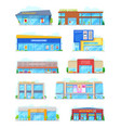buildings for shopping in city or town isolated vector image