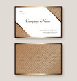 business card with gold metal pattern vector image