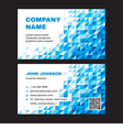 Business Visit Card with Abstract Blue Background vector image vector image