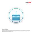 cake icon - white circle button vector image
