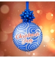 Christmas card with lights EPS 10 vector image vector image