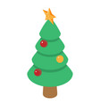 christmas tree icon isometric 3d style vector image vector image