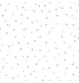 colorful pastel confetti dots seamless pattern vector image