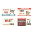 Coupon sale vector image vector image