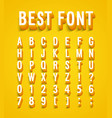 creative font with shadow effect vector image vector image