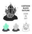 Crystals icon in cartoon style isolated on white vector image