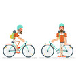 cycling travel geek hipster lifestyle ride bicycle vector image vector image