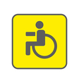 Disabled Person icon vector image vector image
