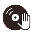 dj icon vinyl player icon vector image vector image