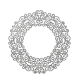 Elegant luxury retro silver floral round frame vector image vector image