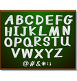 English alphabets on blackboard vector image