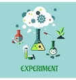 Experiment flat design vector image