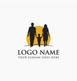 family logo icon template on white background vector image