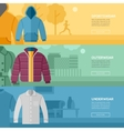 Flat design concept of every day clothes vector image vector image