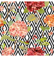 floral hortensia background - seamless pattern vector image vector image