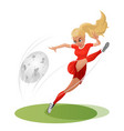 football-girl vector image
