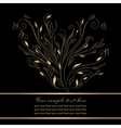 Gold wedding greeting card vector image