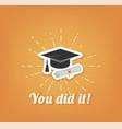 Graduate hat cap graduation