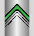 green arrow direction on silver black line vector image vector image